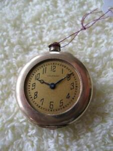 ANTIQUE LADY WALTHAM POCKET WATCH in GOLD-FILLED CASE [1915]