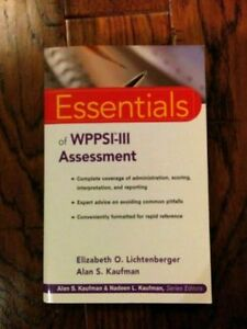 Psychology - Essentials of WPPSI-III Assessment