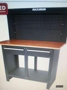 Heavy duty two drawer workbench