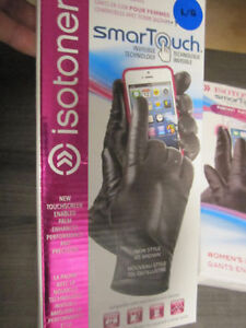Leather Gloves, ISOTONER SmarTouch, Small, Med. & XL, BNIB