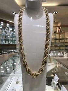 10k Yellow Gold Rope Chain Link 30 inches 15 mm 81.5 gr