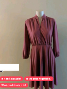 Vintage Women's Dress - Sears The Fashion Place