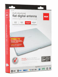 RCA INDOOR DIGITAL FLAT ANTENNA ULTRA SLIM, 360 DIRECTIONAL