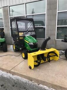 JOHN DEERE X580 LAWN TRACTOR, SNOW BLOWER, CAB, WEIGHTS, CHAINS