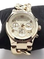 Michael Kors Womens Chronograph Runway Twist Gold-Tone montre