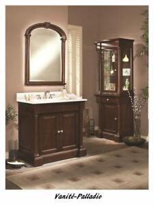 "36"" Lingerie/vanité en peuplier/Side cabinet in poplar Palladio"