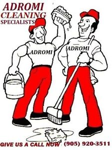 ADROMI CLEANINING ALSO STEAM CLEANS CARPETS & FURNITURE