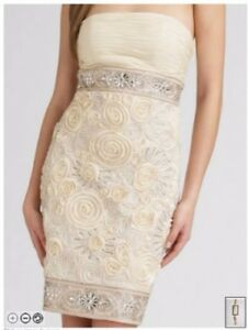 Stunning Sue Wong Embroidered Floral Beaded Dress - Size XS/S
