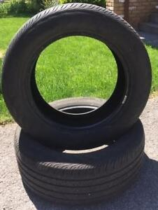 Pair of Continental Contipro 235 55 17 all season tires