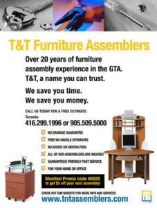 FURNITURE ASSEMBLER AND GENERAL LABOUR IN HAMILTON
