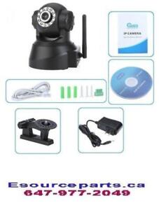 Wireless Mini IP Camera WIFI IR Night Vision LED 2 Way Audio, Rotates Side to Side, Tilts Up/Down