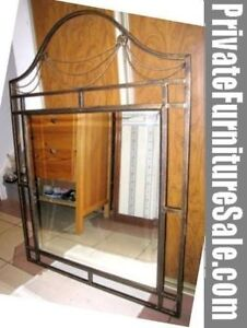 Beautiful large Metal frame Mirror in good condition
