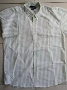 As New Mens White&Lime Striped Ralph Lauren Casual Shirt Sz 17-34 Brisbane City Brisbane North West Preview