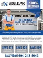 SAME DAY SERVICE *** GARAGE DOOR REPAIR ***