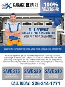 100% Satisfaction guaranteed Garage Repairs