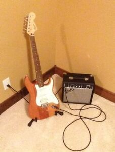 Fender Squier Fat Strat with Amp and Extras!