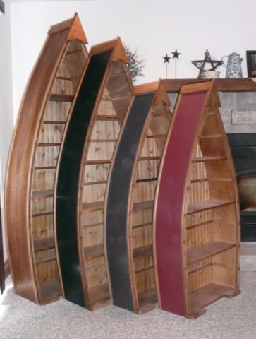Canoe Boat Bookcase Bookshelf For The Cottage Bookcases