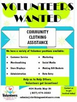 Volunteer opportunities at Community Clothing Assistance!