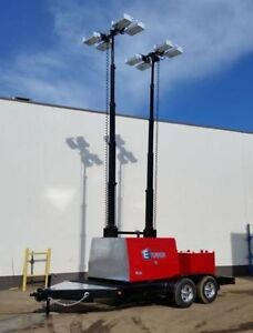 NEW 8-20-30kW Light Tower with Hydraulic Vertical Light Mast