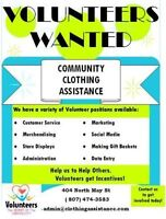 Volunteering at 'Community Clothing Assistance'!