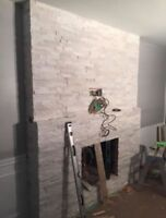 BACK SPLASH AND FIRE PLACE UP DATE START $ 350