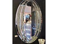 Sparkle Diamond Oval Mirror