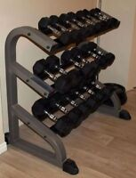 Iron Grip Commercial Dumbbell Set 5lb to 40lb + Commercial Rack