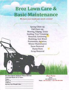 Broz Lawn Care& Basic Maintenance