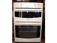 Double electric oven with fan and grill fully working can deliver and install