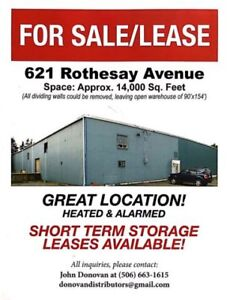 Great location.  Warehouse/office space for sale/lease