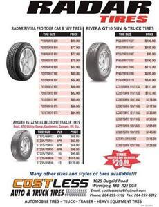 225-65-r17 brand new radar Rivera all season tire