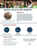 Terry Fox Run Organizer Needed