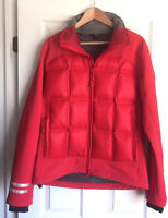 MEN'S CANADA GOOSE RED HYBRIDGE JACKET-NEW CONDITION SIZE LARGE