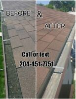 Eavestrough Cleaning/Repair & Instalation Call/text 204-451-7751