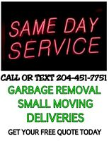 MOVING / DELIVERY / JUNK RUN SERVICE CALL/TEXT 204-451-7751