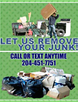 Sameday Junk Removal Service call/text 204-451-7751