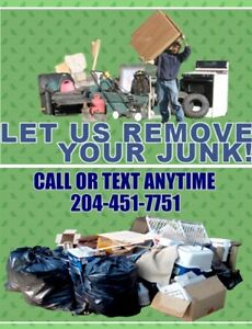 SAME DAY JUNK REMOVAL SERVICE CALL 204-451-7751