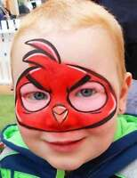 Angry Birds character face painting party for Birthday