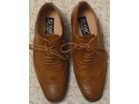 Boys tan leather brogue shoes, Size 12 (Child)