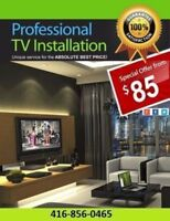 LED, LCD AND PLASMA PROFESSIONAL TV WALL MOUNT INSTALLATION