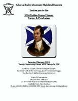 Robbie Burns dinner dance and silent auction