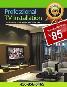 *SPECIAL DEAL* PROFESSIONAL TV WALL MOUNT INSTALLATION $75