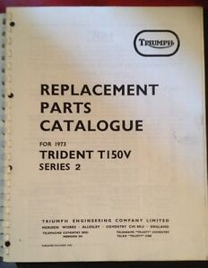 Triumph T150 V Replacement parts Catalogue Prince George British Columbia image 1