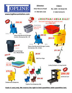 Janitorial Cleaning Supplies CHRISTMAS MEGA SALE! $$ + Free Gift