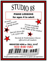 PIANO LESSONS, OVER 25 YEARS OF EXP, IN YOUR HOME, BOWDEN