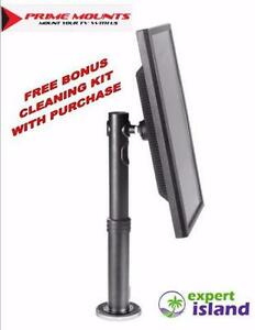 Prime Mounts (PMDHA) height adjustable universal Display / POS mount is designed for Monitors on Counters and Tabletop