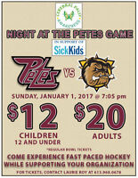Petes  VS BullDogs, January 1st