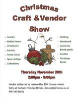 VENDORS WANTED for craft and vendor show!!