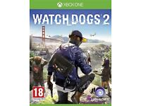 WatchDogs 2 Xbox one (Like new)