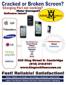 King Mobile: Cell Phone Repair | Unlocking | Computer Service Cambridge Kitchener Area image 2
